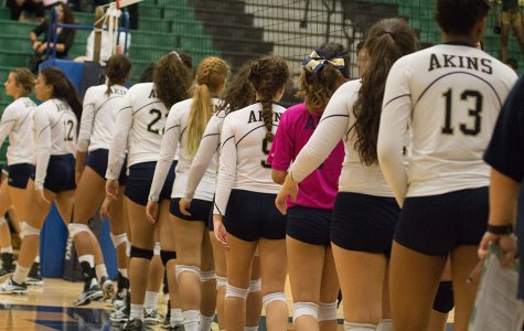 Photos: Akins Eagles vs East Side Panthers volleyball game