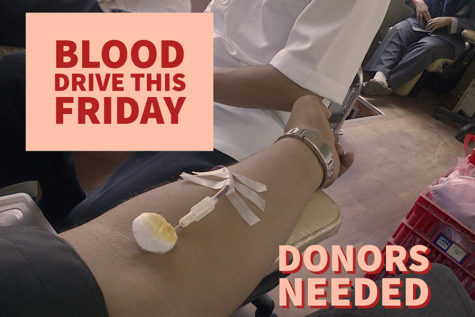 Slots still open for annual blood drive donation this Friday