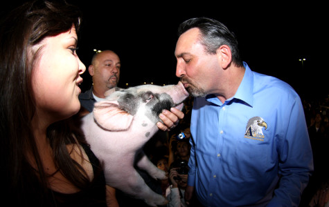 """""""Pig Kissing"""" a highlight of Blue and Gold night"""