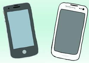 Students take sides on battle between iPhone, Android