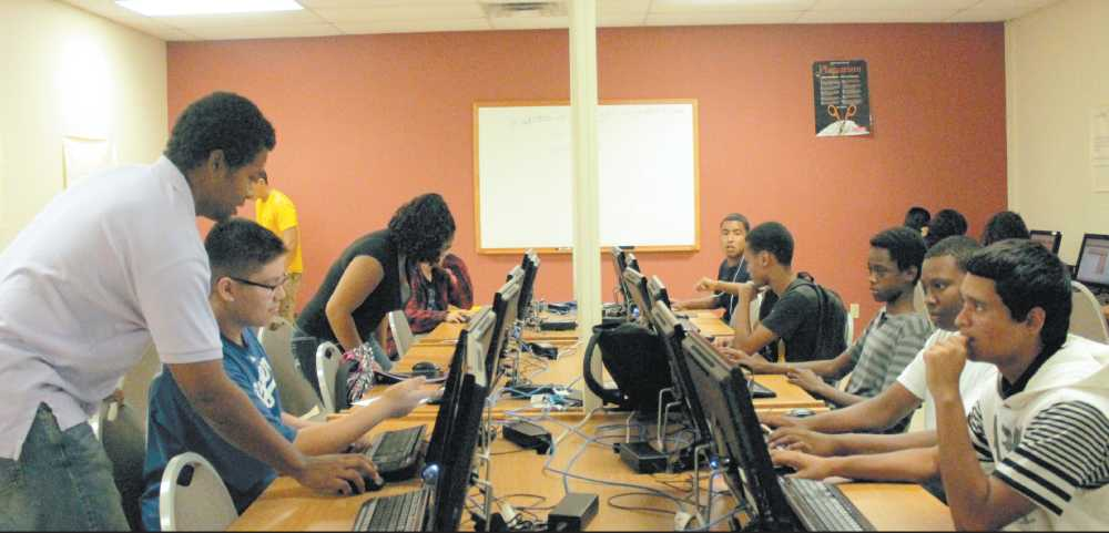 Students work toward credit recovery to meet graduation requirements with the new after school program Twilight. It is held every Monday through Thursday in the library lab.