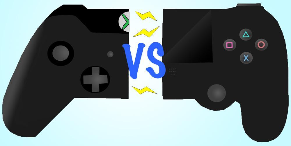 XboxVsPS4ControllersFLAT