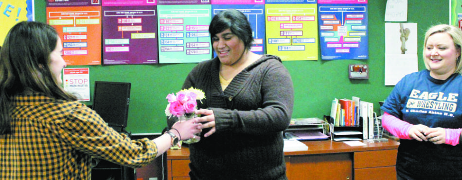 Senior Angely Gonzalez is awarded a prom dream. The charity paid for all prom expenses and textbooks for freshman year at Texas State.