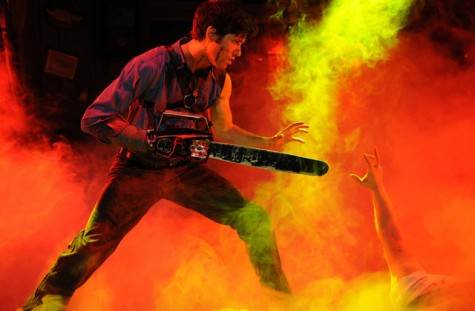 A professional actor portrays the lead role from the Evil Dead: The Musical at the Long Center. Austin ISD students can purchase tickets for professional shows for $5 throughout the school year.