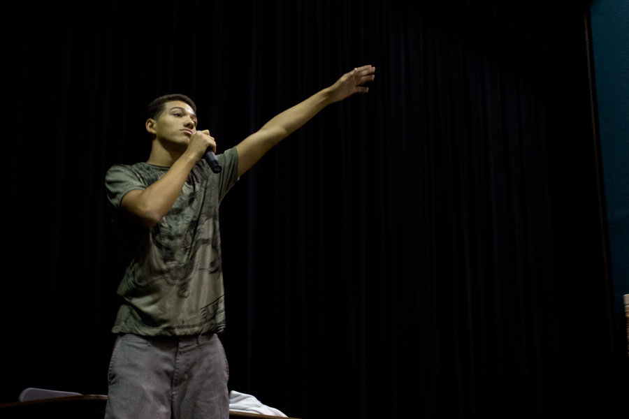 Junior Isaiah Harris wants to change focus of hip-hop away from materialism.
