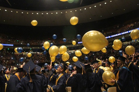 The Class of 2015 graduates from Akins