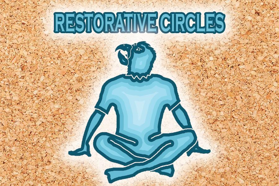 Image+depicting+an+Akins+Eagle+during+a+Restorative+Circle+session.