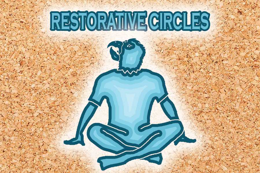 Image depicting an Akins Eagle during a Restorative Circle session.