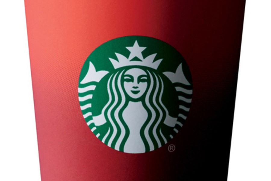 A+Starbucks+red+cup+without+the+usual+Christmas+logo