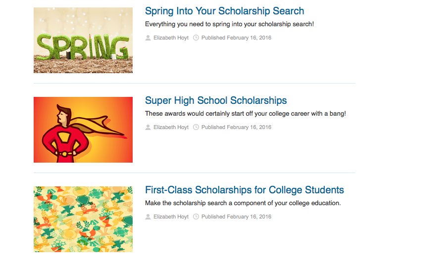 Online scholarships offer money for students of all