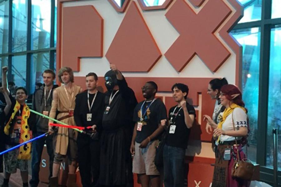 Numerous gaming fans gather for a Star Wars photo op at the PAX South convention in San Antiono. Fans of all stripies shared their love of games at the second annual expo.