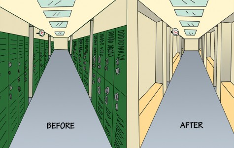 Lockers useless; having them removed for the best