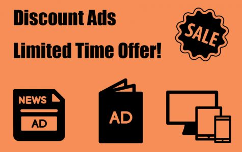 Limited time discount ads available in Akins student publications