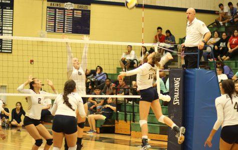 Photos: Akins Eagles vs Crockett Cougars volleyball game