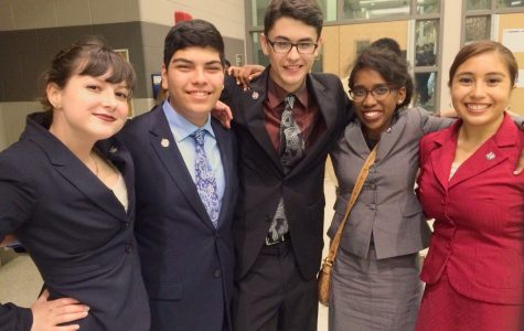 Students celebrate after their State Speech and Debate competition. More UIL options will be available this year.