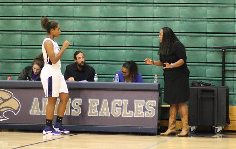 Girls basketball players focus on improving consistency in games.