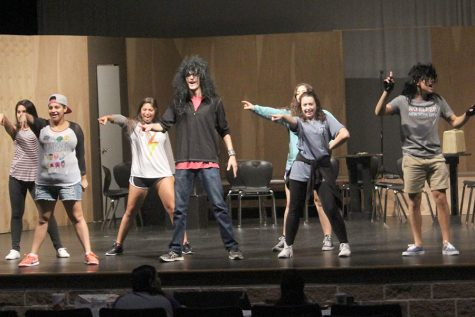 The cast rehearses after school led by Ethan Cannon