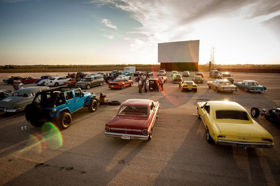 Stars and Stripes brings back the retro years by having an old fashioned drive-in movie theatre.