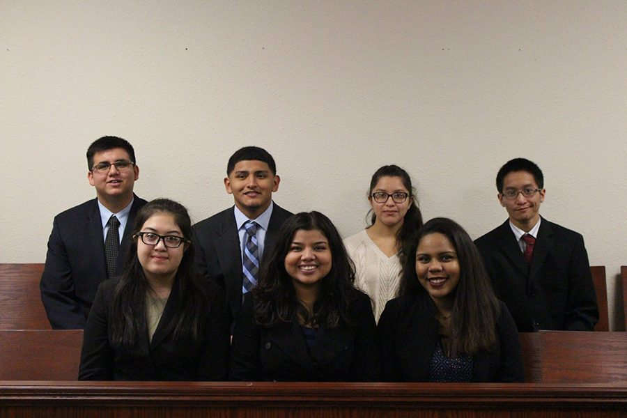 Legal Eagle's Akins Law interns placed first at their regional YMCA Mock Trial competition on Nov. 12. The interns advanced to State competition which will take place in late Jan. The team consist of Adrian Ochoa, Jacob Diaz, Marisa Bosquez, Brandon Rottmann, Brenda Amaya, Madeline Ramos and Jessica Brownlee.