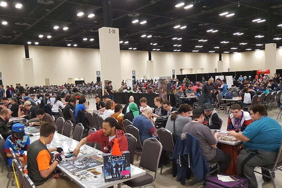 Fans+of+games+like+Dungeons+and+Dragons+play+the+games+they+recently+purchased+with+other+attendees+of+PAX+South+in+San+Antonio.