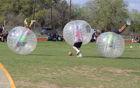 Bubble soccer tournament sends players bouncing down the field