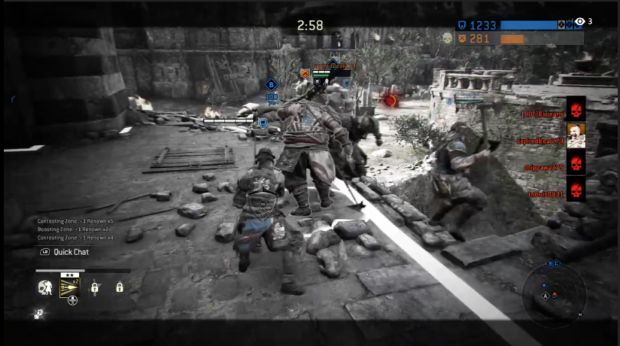 A+Shugoki+struggles+against+several+enemies%2C+fighting+for+a+second+chance