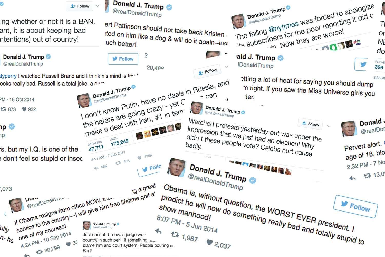 Trump tweet-storm continues into presidency