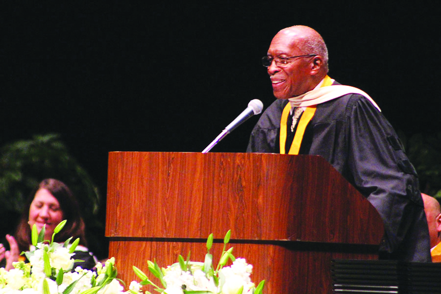 Dr.Akins+attended+graduation+every+year%2C+his+annual+speech+was+always+thoughtful+