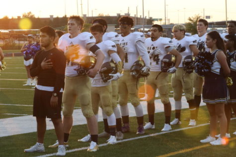 Akins Football win first season game.