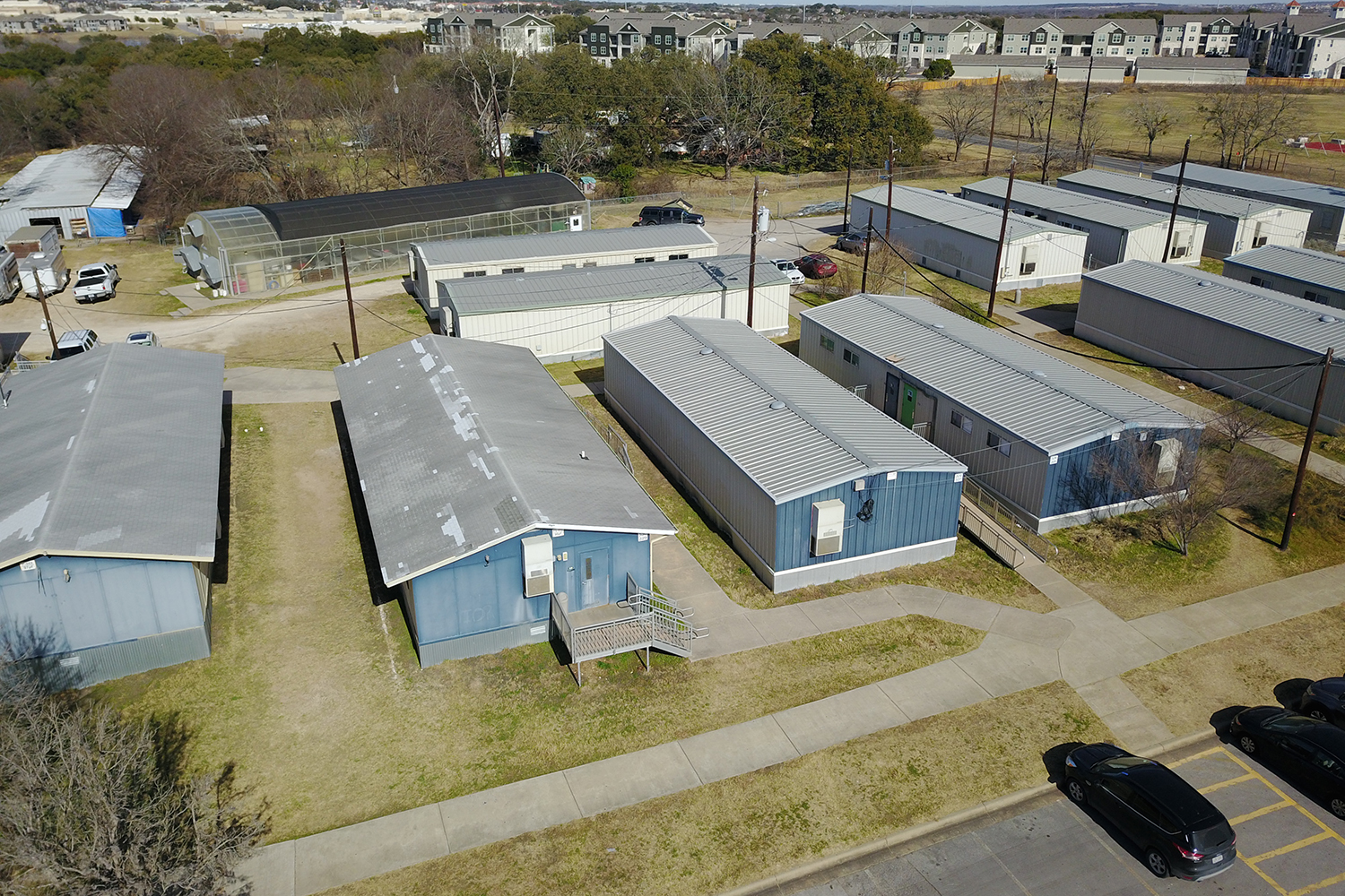 The district is currently in the process of assessing what portables are in need of removal, and it isn't known if any of the portables on the Akins campus will be replaced