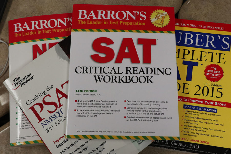 Stack of SAT books