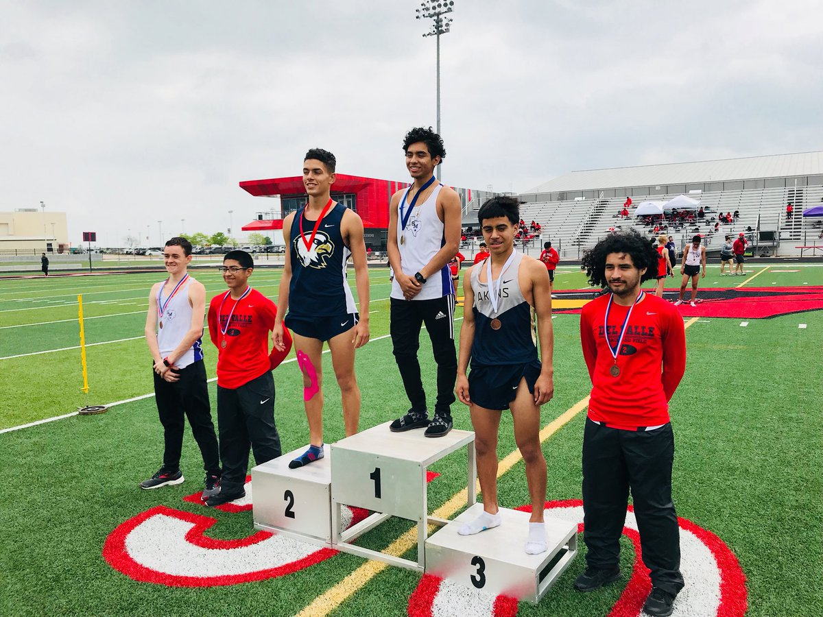 Senior Cassius Serff-Roberts and sophomore Matthew Quiroz earn 2nd and 3rd in the 3200 meter dash, advancing to Area where they hope to do even better.