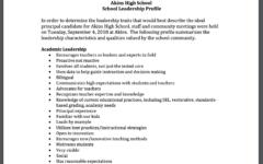Principal profile and Principal selection date announced