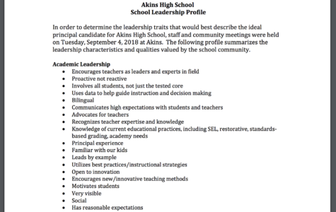 Principal profile and Principal selection date announced