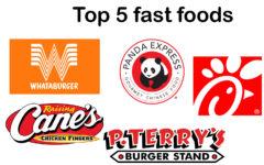 Top 5: Fast Food restaurants