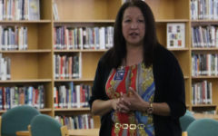 Principal Tina Salazar speaks to the Akins Campus Leadership Team Tuesday morning after the school board officially appointed her to the official position the night before. Salazar had previously served as the interim principal and was before that an assistant principal at Akins.