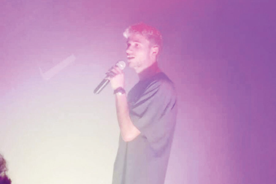 "Jeremy Zucker performs his song ""Desire"" at the Parish music venue in downtown Austin in October. Zucker has signed with Republic Records and is now getting ready for his major label debut."