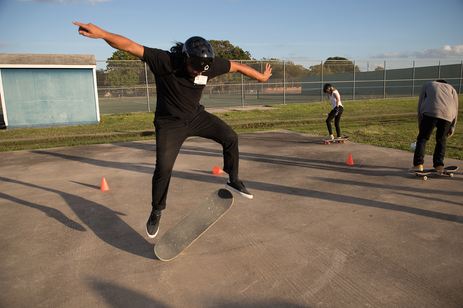 The Akins Skateboard Club meets on Wednesdays after school. Members meet at costume design teacher Travis Beauchamp's classroom at Room 230.