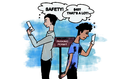 Reckless driving causes concerns in student parking lots
