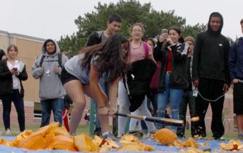 Akins smashes pumpkins to raise money for Key Club