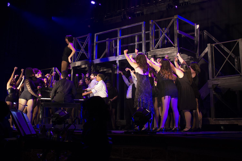 Sophomore Coral Rolon sings