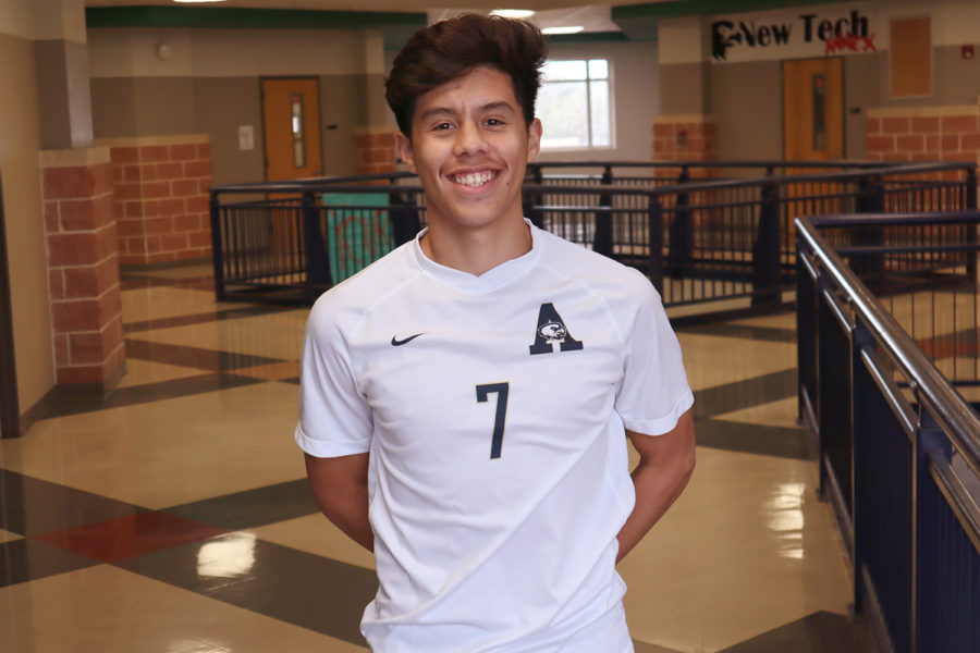 Senior+Brian+Medina+has+played+soccer+for+14+years.+He+has+also+played+for+the+Akins+varsity+team+and+various+club+teams.+He+hopes+to+play+it+after+high+school.