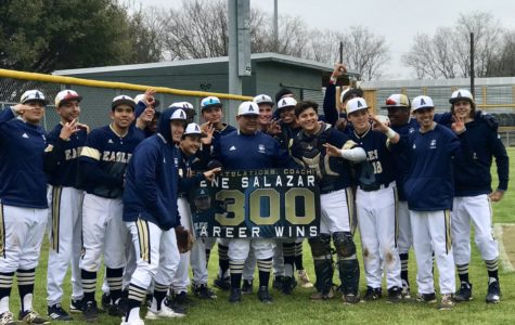 Head baseball coach earns 300th career win