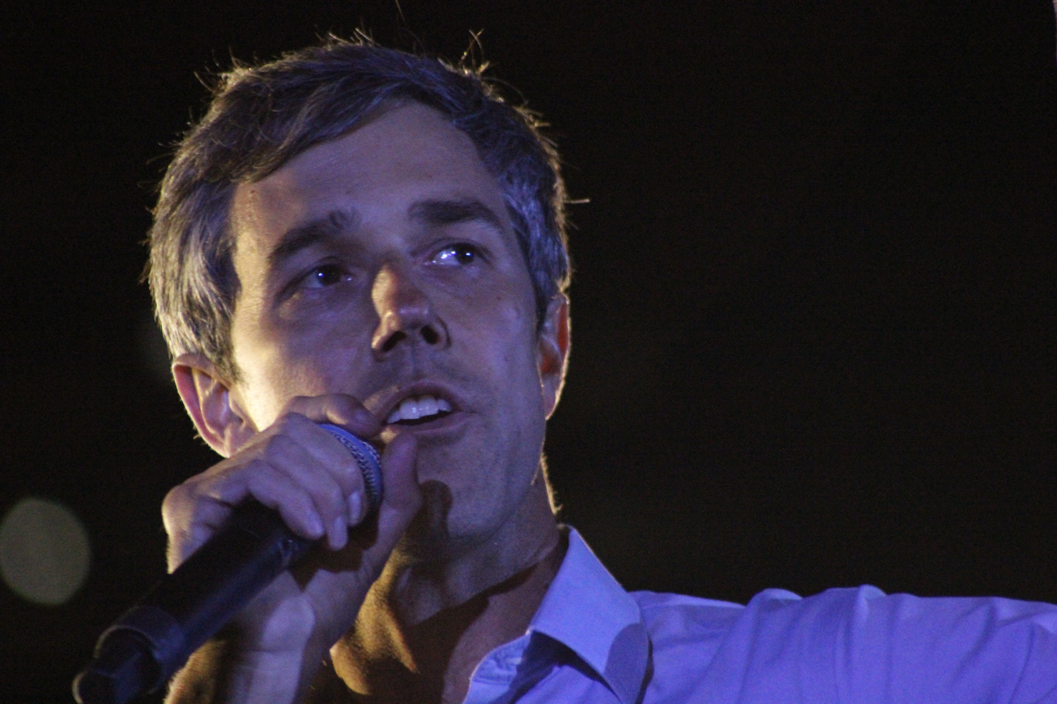 Presidential candidate Beto O'Rourke speaks at his rally in downtown Austin on Saturday, March 30. O'Rourke was preceded by speeches from Mayor Steve Adler and Rep. Gina Hinojosa.