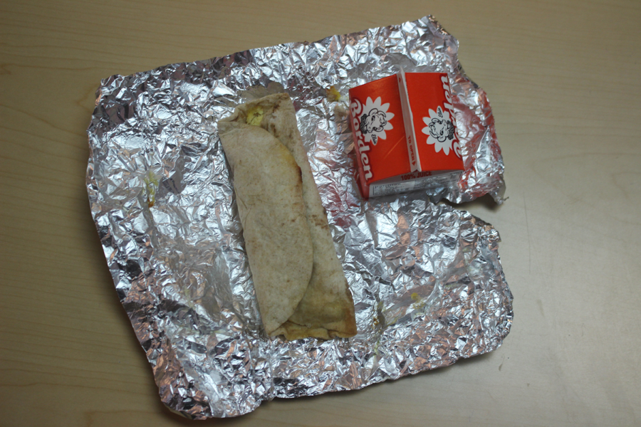 The breakfast tacos provided to students in the Breakfast-in-the-Classroom program ranked highest in our reviewer's personal rankings.