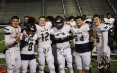 Graduating varsity football players share memories