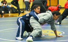 Wrestlers show mental, physical strength in matches