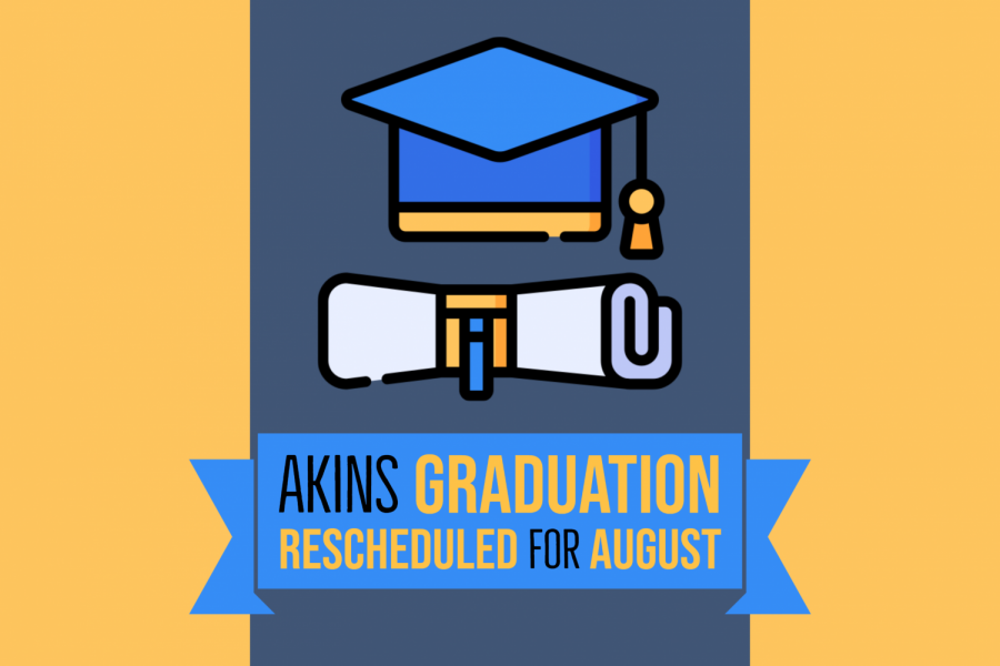 Today, Austin ISD announced a revised graduation ceremony schedule for Aug. 10-13, 2020 although those new dates are subject to change and dependent on conditions at that time. The Akins graduation ceremony is tentatively scheduled for Aug. 12 at 10 a.m. at the Erwin Center.