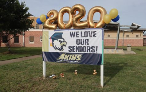 The Akins community gathered on May 29 to celebrate the Class of 2020 with a first of its kind vehicle parade.