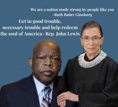 Passing of John Lewis, RBG leaves sadness, worry